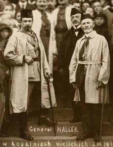gen. J. Haller przed szybem Daniłowicza, 2 lipca 1919, MŻKW