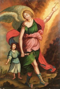Anioł Stróż z wystawy Sacrum w dziedzictwie solnym