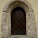 Portal gotycki w budynku środkowym, XV w. S