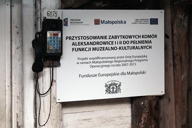 Tablica informacyjna, komory Aleksandrowice, Muzeum Żup Krakowskich Wieliczka