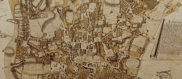 Mapa Wieliczki, 1785 r.
