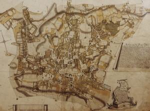 Mapa Wieliczki z 1785 r.