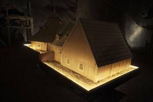 Model klety nad szybem Wodna Góra