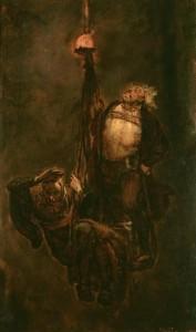 Zjazd do kopalni góromistrza S. Bethmana i żupnika A. Kościeleckiego w czasie pożaru w 1510 r., J. Matejko,