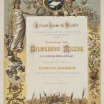 Dyplom honorowego członkowstwa Czytelni Ludowej w Wieliczce dla Sylwerego Miszke, 1891