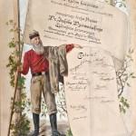 Dyplom honorowego członkowstwa Towarzystwa gimnastycznego Sokół w Wieliczce dla Jakuba Dziewońskiego, 1892