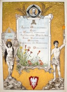 Dyplom uznania Czytelni św. Kunegundy w Wieliczce
