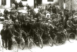 Klub Cyklistów i Motorzystów w Wieliczce, 1924 r., ze zbiorów Muzeum Żup Krakowskich Wieliczka
