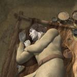 Rekonstrukcja grobu kultury malickiej z Targowiska. Wyk. Ł. Wójcik
