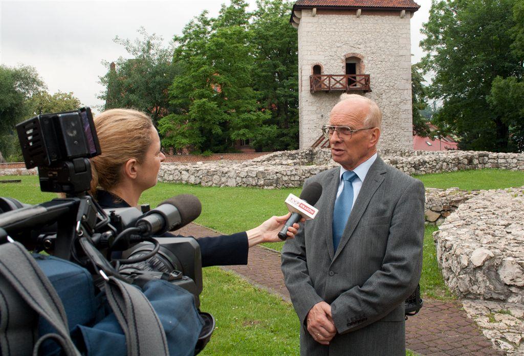 Konferencja prasowa w Zamku Żupnym