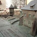 Zamek Żupny, makieta z brązu, Muzeum Żup Krakowskich Wieliczka