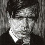 Autoportret, Władysław Skoczylas, drzeworyt, 1913 r.