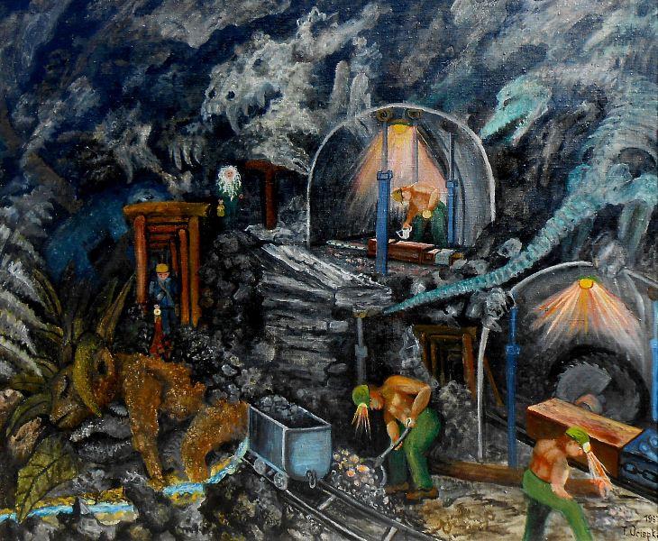 wypełnionej wyobrażeniami fantastycznych potworów o jaszczurczych ciałach wizji Teofila Ociepki.