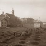 Wieliczka - drugi od lewej szyb Regis, kościół św. Klemensa, Zamek Żupny, fot. W. Gargul 1