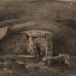 Aleksander Gryglewski, Chodnik Kloski, 1869, papier, tusz
