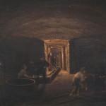 Aleksander Gryglewski, Podziemia Wieliczki, 1869, olej, tektura,