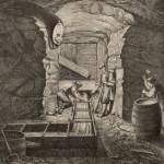 Wieliczka I. Szyb Franciszka Józefa, piętro czwarte od góry (Rysunek umyślnie na miejscu wykonany przez Gryglewskiego), Kłosy, 26.12.1868, Nr 184, s. 1