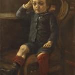 Portret syna Czesława, mal. F.Olesiński ok. 1895 r.  Muzuem Żup Krakowskich Wieliczka