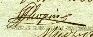 autograf Chopina w księdze pamiatkowej, Muzuem Żup Krakowskich Wieliczka