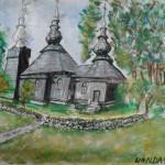 Cerkiew  w Brunarach , mal. Wanda Michalik