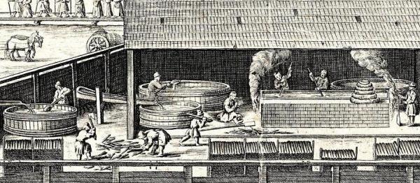 600 262 fragmenty winiety W. Hondiusa do mapy M. Germana, Muzeum Żup Krakowskich Wieliczka
