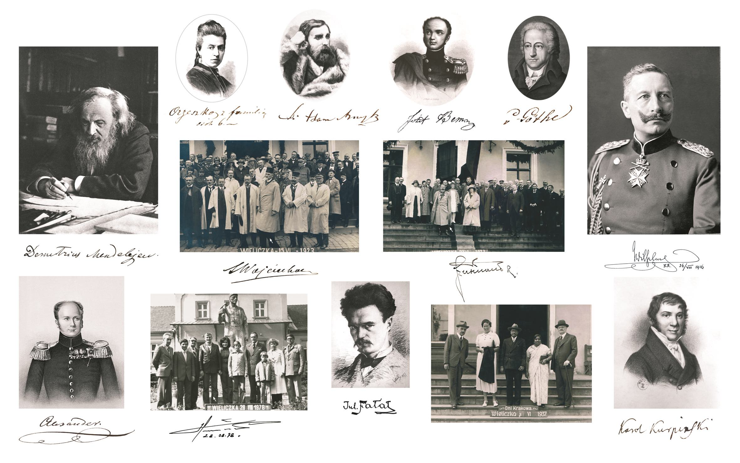 Wystawa: Znane osobistości w Wieliczce