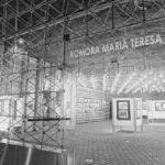 Oryginalna ścianka oraz oświetlenie z 1966 roku, zdjęcie współczesne
