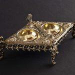 Solniczka srebrna, podwójnie złocona, Norymberga ok. 1580 r.