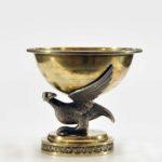 solniczka srebrna, złocona z orłem, J. Preizyg, po 1809, Grodno