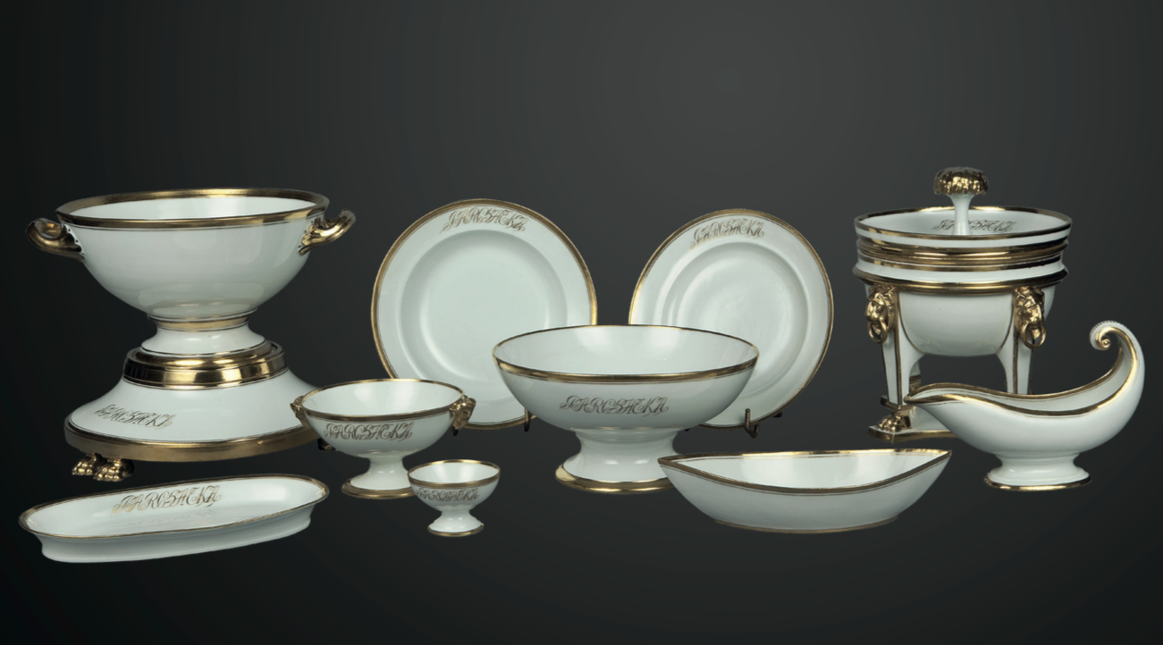 Exhibition: Crockery sets from the collection of the Czartoryski family